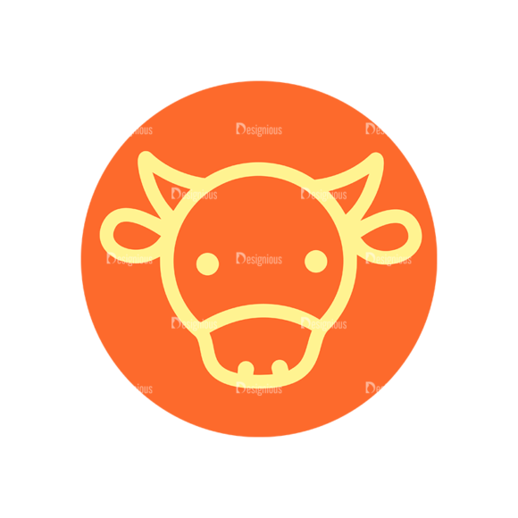 Farming Fresh Labels Set 2 Vector Cow farming fresh labels set 2 vector cow