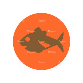 Farming Fresh Labels Set 2 Vector Fish Clip Art - SVG & PNG vector