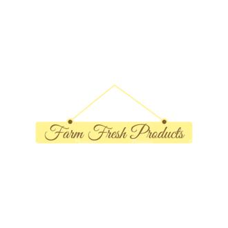 Farming Fresh Labels Set 2 Vector Text 02 Clip Art - SVG & PNG vector