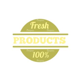 Farming Fresh Labels Set 2 Vector Text 04 Clip Art - SVG & PNG vector