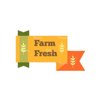 Farming Fresh Labels Set 2 Vector Text 13 Clip Art - SVG & PNG vector