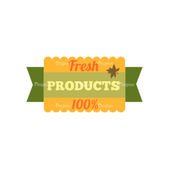 Farming Fresh Labels Set 2 Vector Text Clip Art - SVG & PNG vector