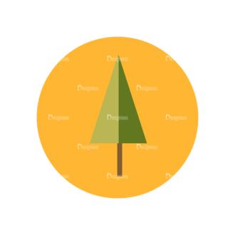 Farming Fresh Labels Set 2 Vector Tree Clip Art - SVG & PNG tree