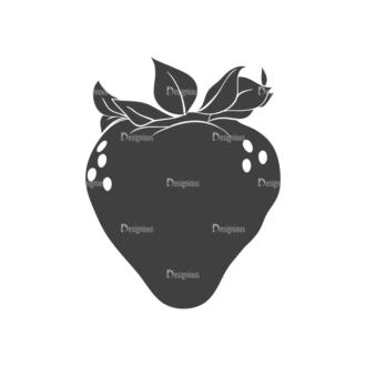 Farming Plants Vintage Vector Set 3 Vector Strawberry Clip Art - SVG & PNG vector
