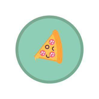 Fast Food Vector Set 1 Vector Pizza Clip Art - SVG & PNG vector