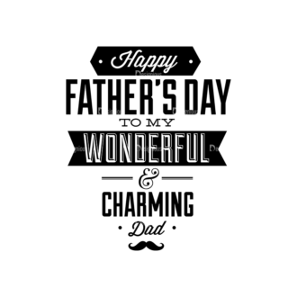 Father S Day Typography 1 Vector Expanded Text 03 Clip Art - SVG & PNG vector