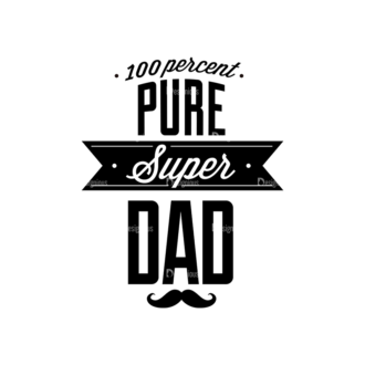 Father S Day Typography 1 Vector Expanded Text 06 Clip Art - SVG & PNG vector