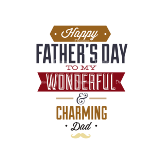 Father S Day Typography 1 Vector Expanded Text 10 Clip Art - SVG & PNG vector