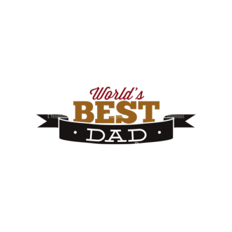 Father S Day Typography 1 Vector Expanded Text 11 Clip Art - SVG & PNG vector