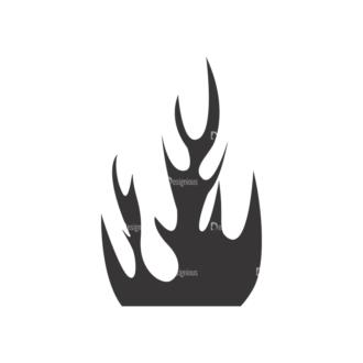 Flames Vector 1 19 Clip Art - SVG & PNG vector