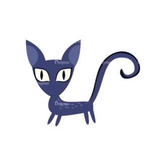 Flat Halloween Characters Set 1 Vector Cat Clip Art - SVG & PNG vector