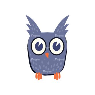 Flat Halloween Characters Set 1 Vector Owl Clip Art - SVG & PNG vector