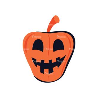 Flat Halloween Characters Set 1 Vector Pumpkin Clip Art - SVG & PNG vector