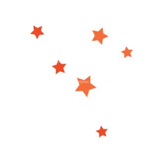 Flat Halloween Characters Set 1 Vector Stars Clip Art - SVG & PNG vector
