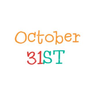 Flat Halloween Scrapbooking Set 1 Vector October 31St Clip Art - SVG & PNG vector