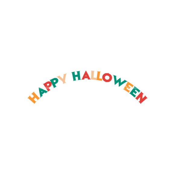 Flat Halloween Scrapbooking Set 1 Vector Happy Halloween 1