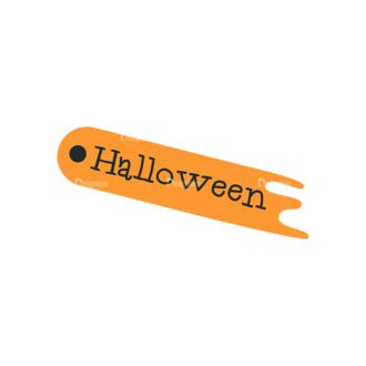 Flat Halloween Scrapbooking Set 1 Vector Ticket 10 Clip Art - SVG & PNG vector