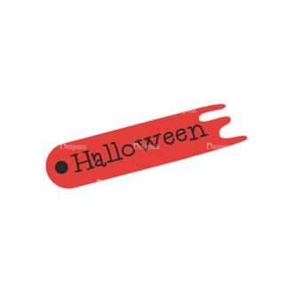 Flat Halloween Scrapbooking Set 1 Vector Ticket 12 Clip Art - SVG & PNG vector