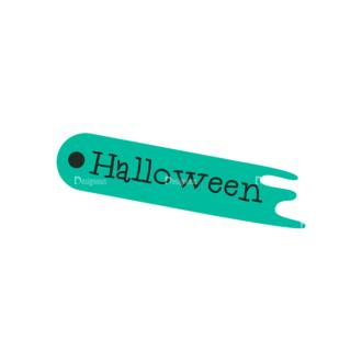 Flat Halloween Scrapbooking Set 1 Vector Ticket 13 Clip Art - SVG & PNG vector