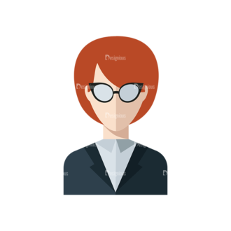 Flat Icons Professions Vector Set 1 Vector Teacher Clip Art - SVG & PNG vector