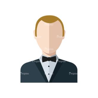 Flat Icons Professions Vector Set 1 Vector Waiter Clip Art - SVG & PNG vector