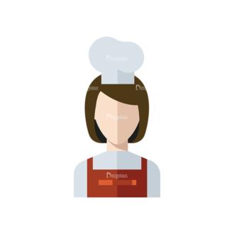 Flat Icons Professions Vector Set 1 Vector Chef Clip Art - SVG & PNG vector