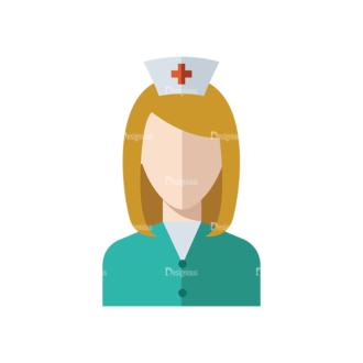 Flat Icons Professions Vector Set 1 Vector Nurse Clip Art - SVG & PNG vector