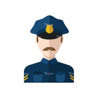 Flat Icons Professions Vector Set 1 Vector Policeman Clip Art - SVG & PNG vector