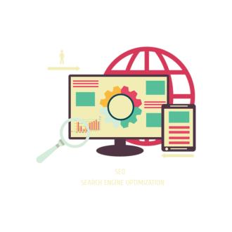 Flat Social Concept Vector Set 1 Vector Search Clip Art - SVG & PNG vector
