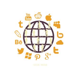 Flat Social Concept Vector Set 1 Vector Social Media Clip Art - SVG & PNG vector