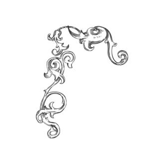 Floral Vector 28 3 Clip Art - SVG & PNG floral