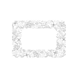 Floral Vector 82 7 Clip Art - SVG & PNG floral