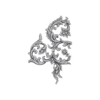 Floral Vector 95 2 Clip Art - SVG & PNG floral
