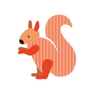 Forest Animals Vector 1 Vector Squirrel Clip Art - SVG & PNG vector