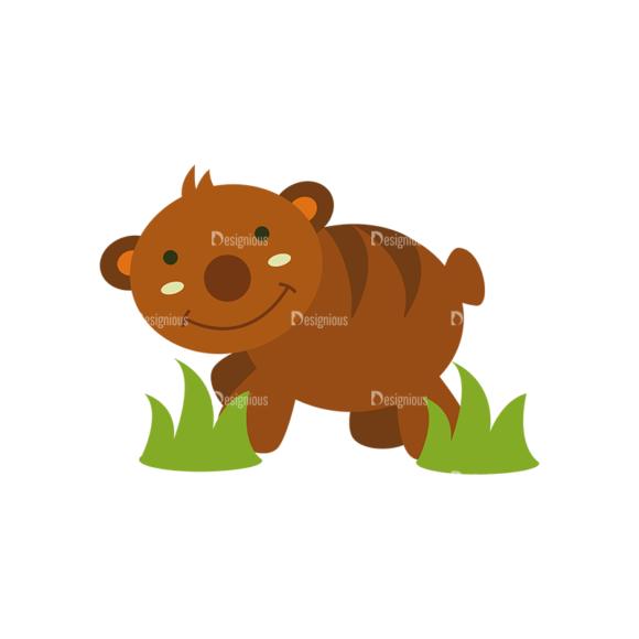 Forest Vector Set 1 Vector Bear 1