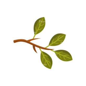 Forest Vector Set 1 Vector Leaves Clip Art - SVG & PNG vector