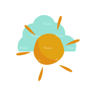 Forest Vector Set 1 Vector Sun Clip Art - SVG & PNG vector
