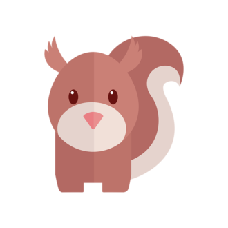 Funny Animals Vector 2 Vector Squirrel Clip Art - SVG & PNG vector