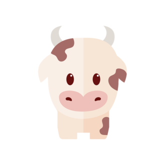 Funny Animals Vector 2 Vector Cow Clip Art - SVG & PNG vector