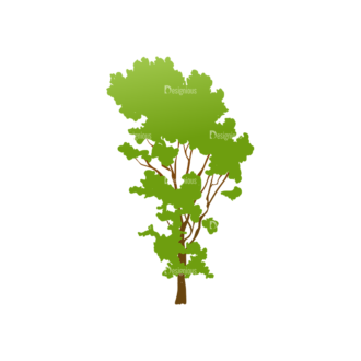 Green Trees Vector Tree 05 Clip Art - SVG & PNG tree