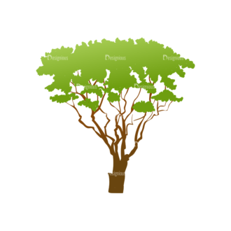 Green Trees Vector Tree 06 Clip Art - SVG & PNG tree