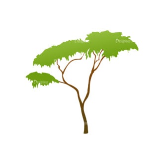 Green Trees Vector Tree 07 Clip Art - SVG & PNG tree