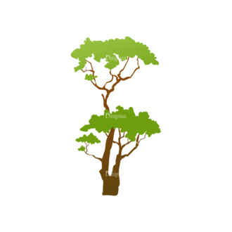 Green Trees Vector Tree 08 Clip Art - SVG & PNG tree