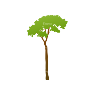 Green Trees Vector Tree 09 Clip Art - SVG & PNG tree