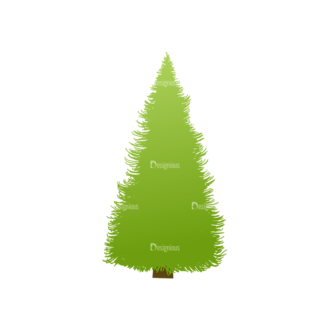Green Trees Vector Tree 10 Clip Art - SVG & PNG tree