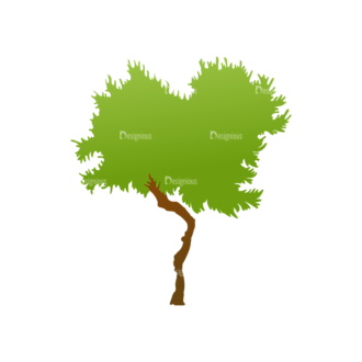 Green Trees Vector Tree 12 Clip Art - SVG & PNG tree