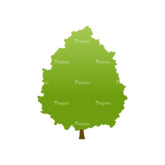 Green Trees Vector Tree 14 Clip Art - SVG & PNG tree