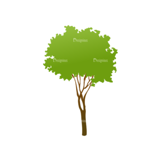 Green Trees Vector Tree 15 Clip Art - SVG & PNG tree
