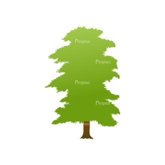 Green Trees Vector Tree 17 Clip Art - SVG & PNG tree