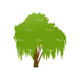 Green Trees Vector Tree 18 Clip Art - SVG & PNG tree